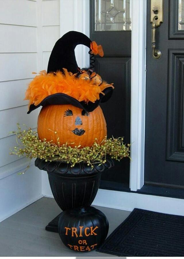 Recibidor decorado para halloween - Como decorar halloween ...
