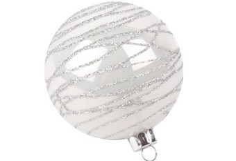 Bola Arbol Cristal Blanca