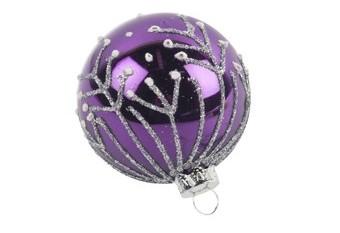 Bola Arbol Lila Lagrima Plata Purpura