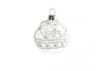 Bola Arbol Transparente con Brillo blanc