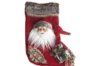 Calcetin Santa Claus Rojo
