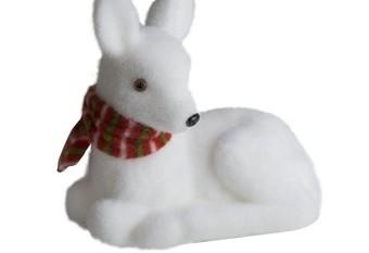 Cierva Blanco Bufanda Roja