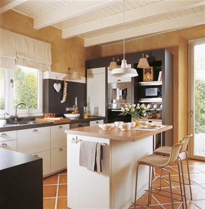 Cocinas con barra para desayunar - Barra para cocina ...