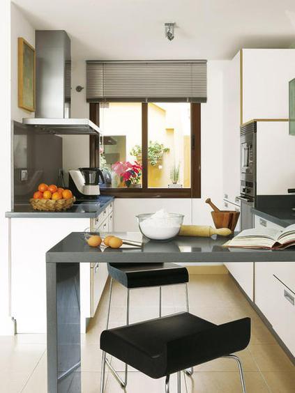 Cocinas barra desayunar6 Cocinas pequenas con barra
