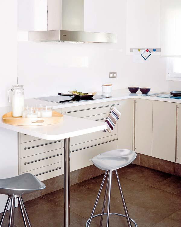 Cocinas barra desayunar9 Cocinas pequenas con barra