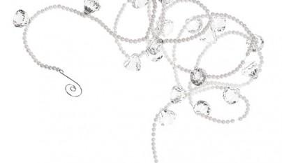 Coleccion Antiguo Guirnalda Perlas y cristales