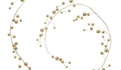 Coleccion Bohemia Guirnalda de perlas doradas