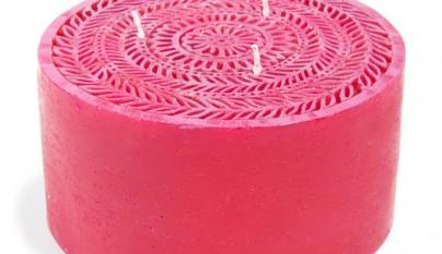 Coleccion Bohemia Vela roja Mandala modelo grande