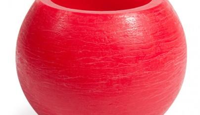 Coleccion Bohemia Vela vaso rojo