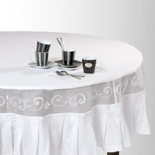coleccion clasico mantel pliegues redondo. Black Bedroom Furniture Sets. Home Design Ideas