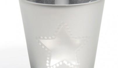 Coleccion Nordica Portavelas Estrella blanca