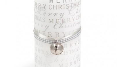 Coleccion Nordica Vela granizo Merry christmas