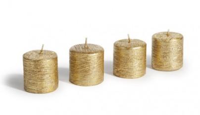 Coleccion Romantico 4 velas doradas Votive