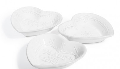 Coleccion Romantico 6 cazuelas corazon Valentine