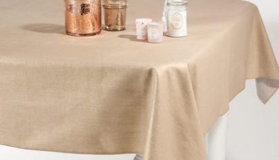 Coleccion Romantico Mantel reversible dorado plateado Cassiopee