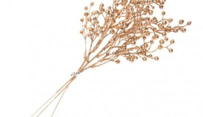 Coleccion Romantico Ramas decorativas Berries doradas