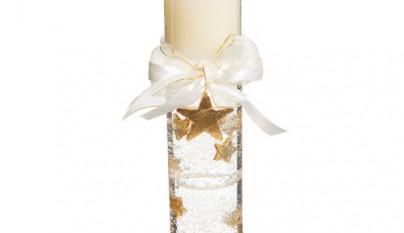 Coleccion Romantico Vela gel estrella dorada