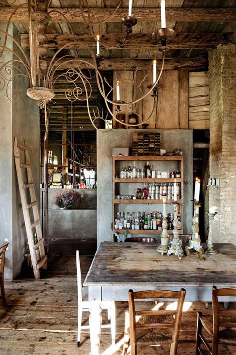 Comedores con encanto35 for Adornos para bares rusticos