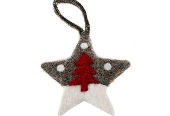 Estrella Colgar Arbol Rojo