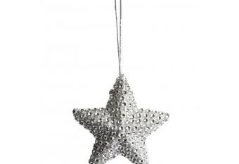Estrella Colgar Brillantes Plata