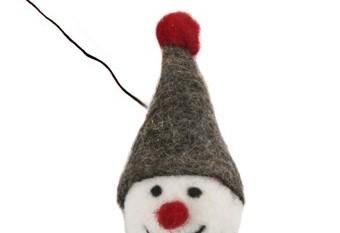 Guirnalda Snowman Marron Blanco