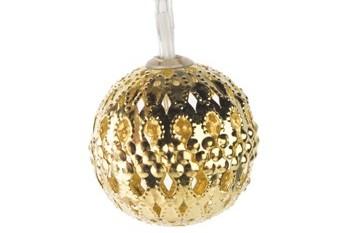Luces Navidad 10 Leds Bola Oro