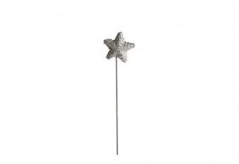 Picatiestos Estrella Brillantes Plata