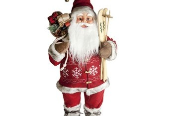 Santa Claus Con Esquis y Saco