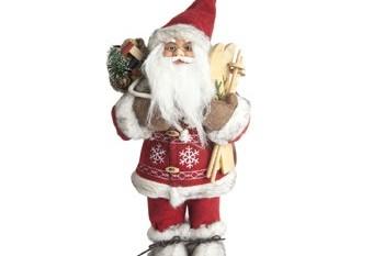 Santa Claus Con Esquis y Saco1