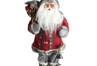 Santa Claus Con Linterna y Saco