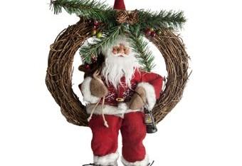 Santa Claus Corona Con Linterna