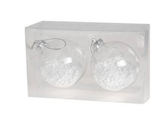 Set 2 Bolas Cristal Copos De Nieve