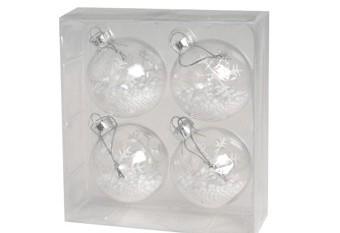 Set 4 Bolas Cristal Copos De Nieve