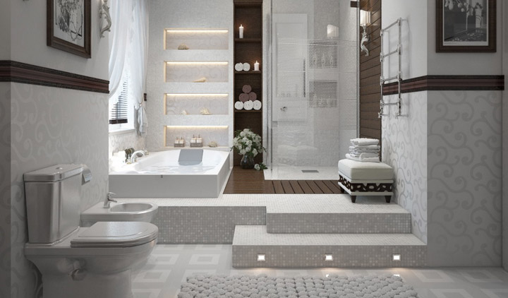 Decorar Un Baño Gris:Cómo decorar un baño mini