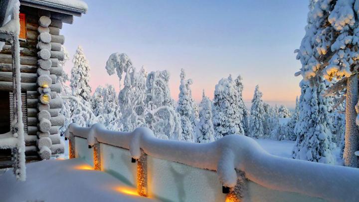 decoracion de una terraza en invierno