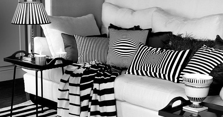 decorar blanco negro