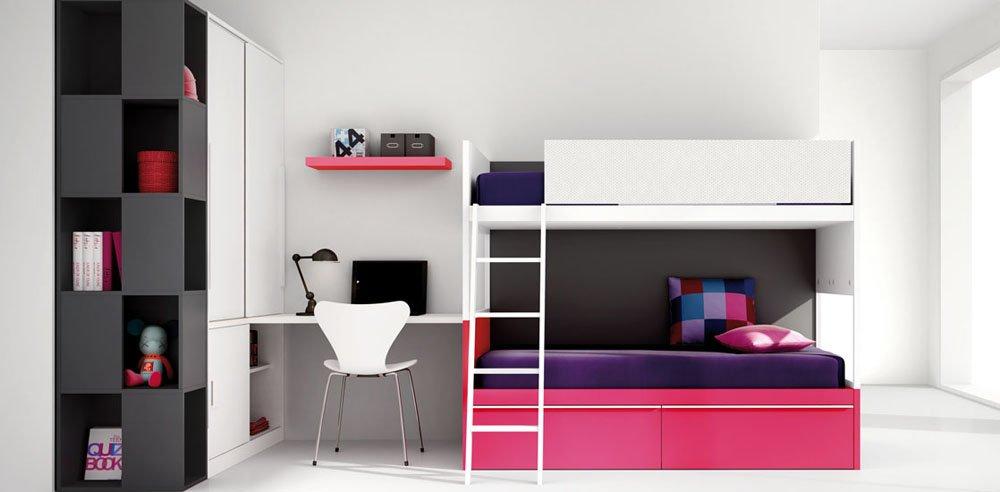 Modelos de literas juveniles litera con somier y colchn - Modelos de dormitorios juveniles ...