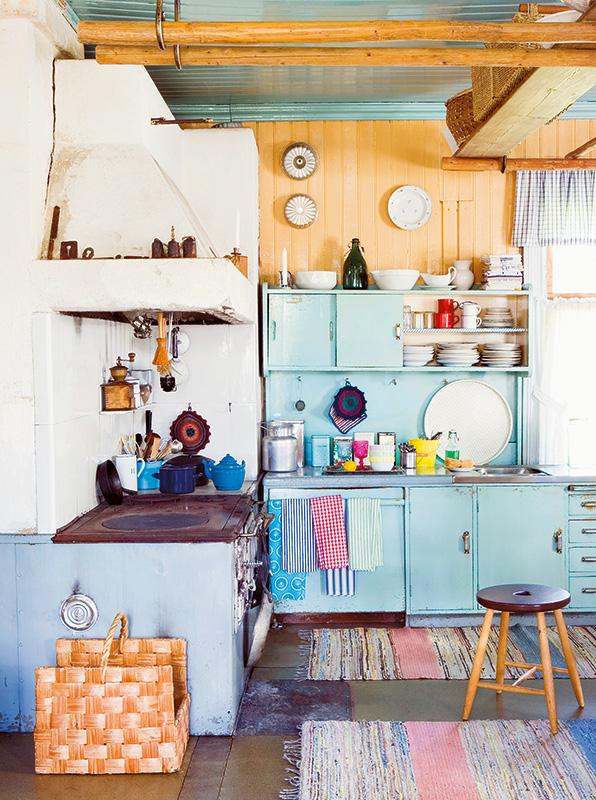 Muebles De Cocina Estilo Retro: Isla de cocina estilo vintage con ...