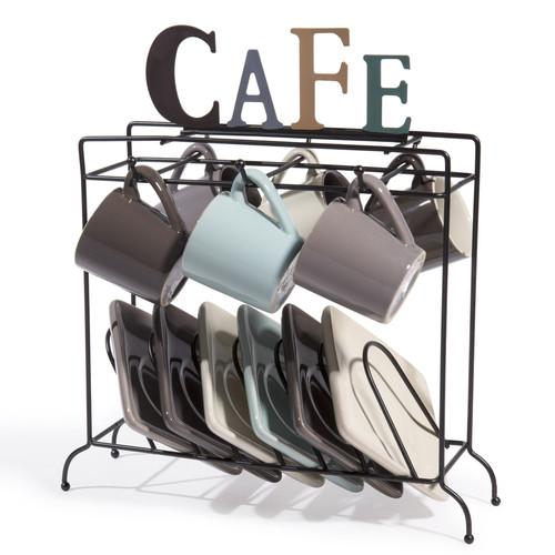 6 tazas y platillos mas soporte nordic cafe. Black Bedroom Furniture Sets. Home Design Ideas