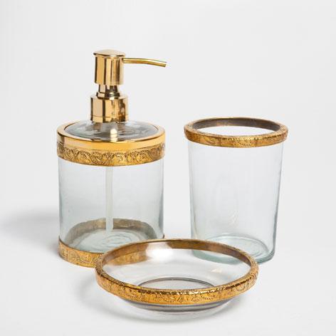 Accesorios de bano vidrio y metal for Accesorios bano cristal