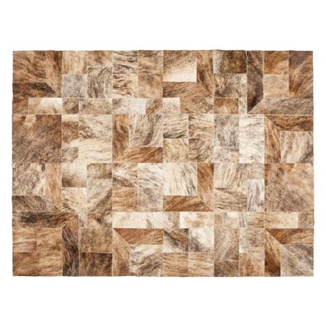 Alfombra piel patchwork for Zara home alfombras