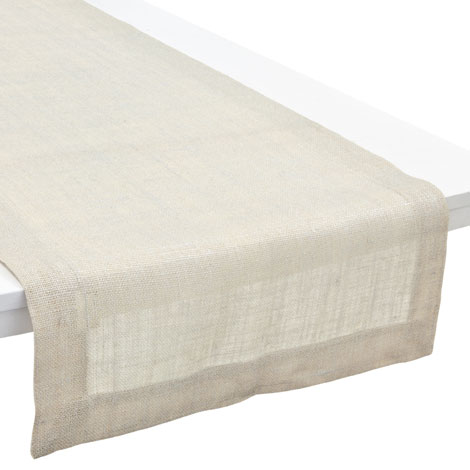 camino de mesa lino plateado