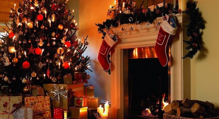 Chimenea Navidad decoracion
