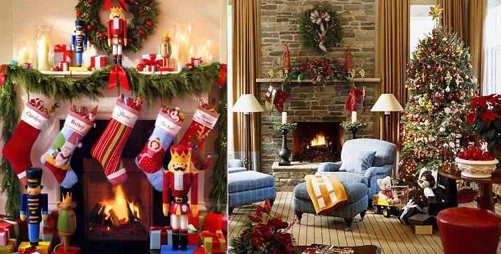 Cómo decorar la chimenea en Navidad