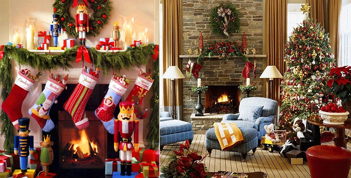 c mo decorar la chimenea en navidad