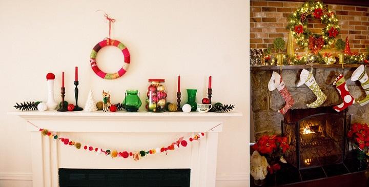 Chimenea Navidad decoracion3