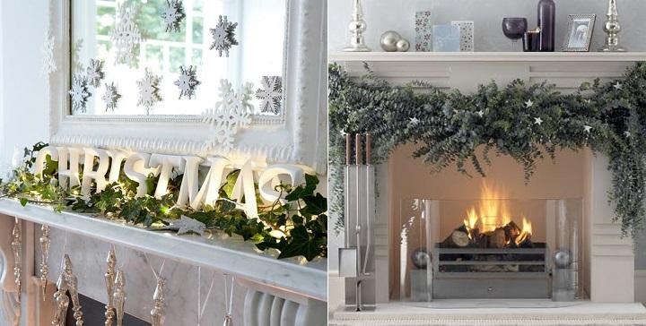 C mo decorar la chimenea en navidad - Adornos de chimeneas ...