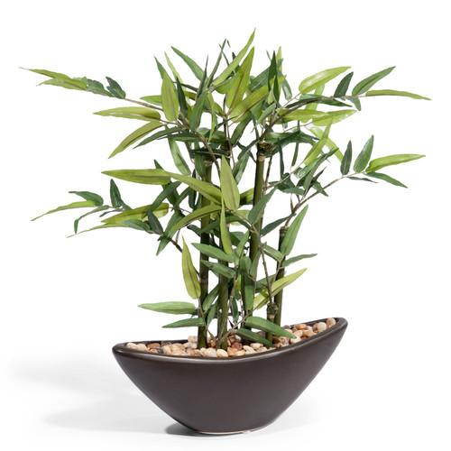 Composicion artificial bambu - Bambou en pot interieur ...