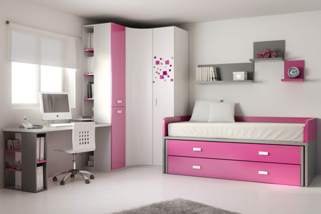 Dormitorio rosa y blanco15 - Decoracion habitacion rosa ...