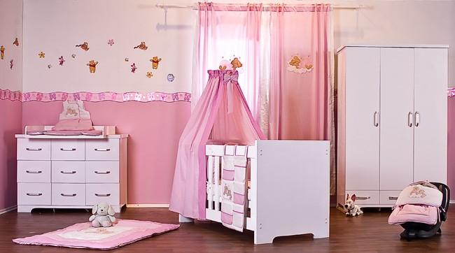 Dormitorio rosa y blanco20 - Dormitorio infantil blanco ...